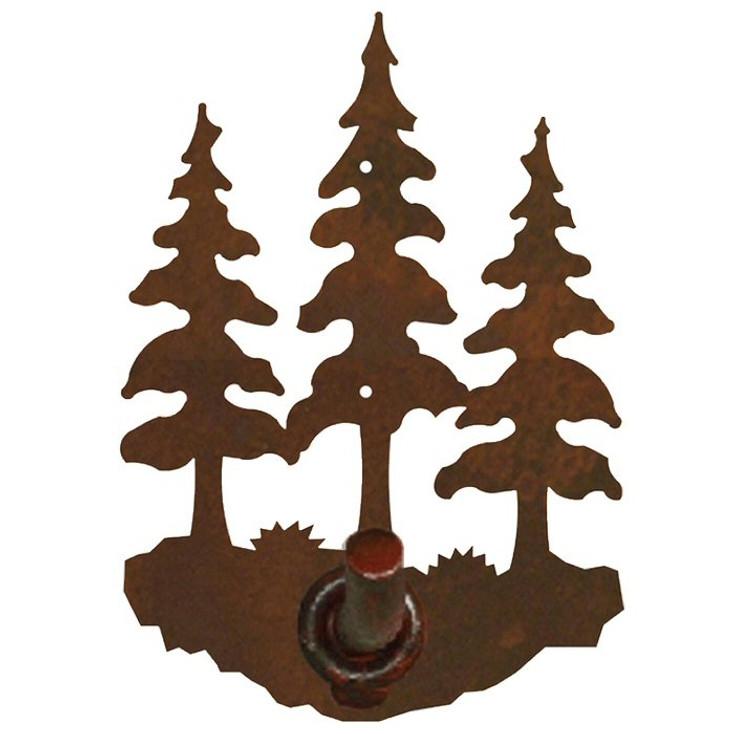 Triple Pine Trees Metal Robe Hook