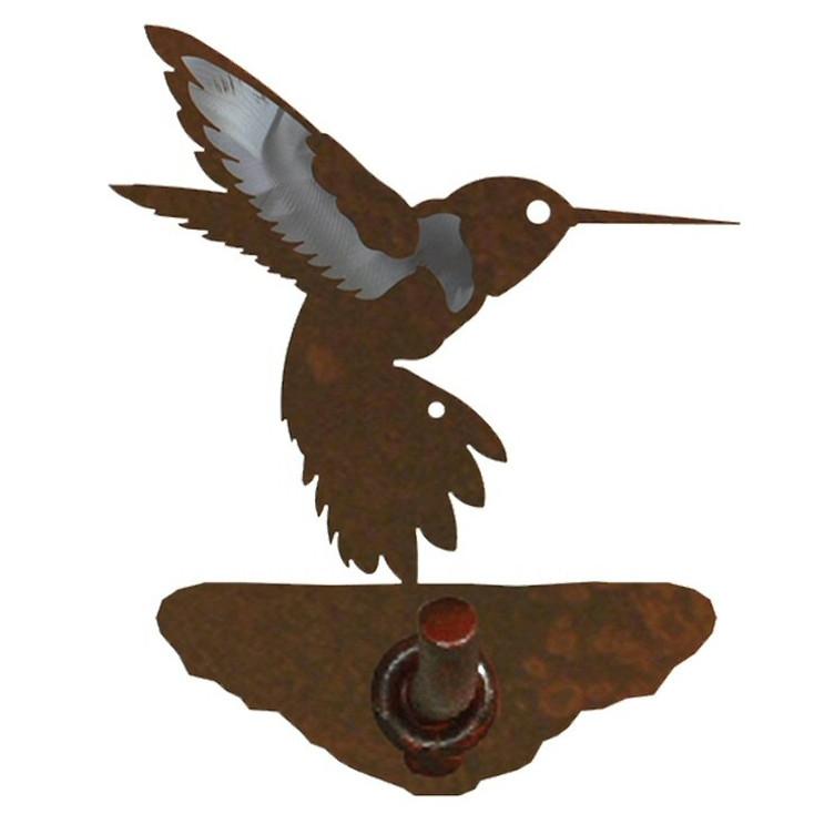 Burnished Hummingbird Metal Robe Hook