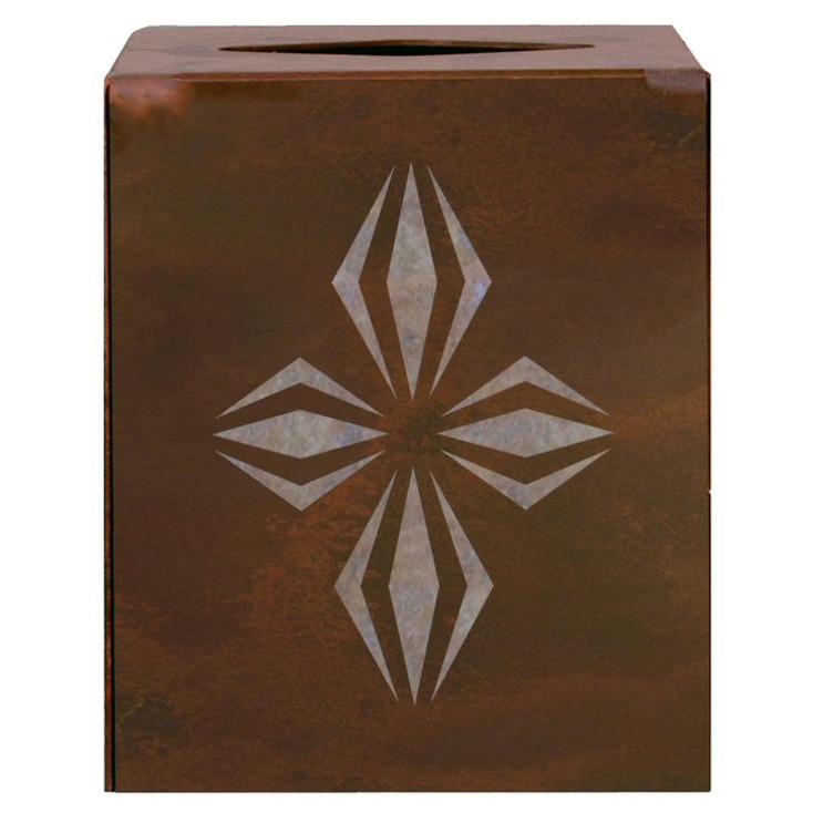 Geo Diamond Metal Boutique Tissue Box Cover