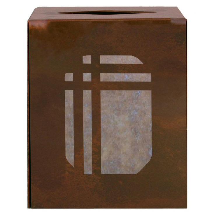 Mission Metal Boutique Tissue Box Cover