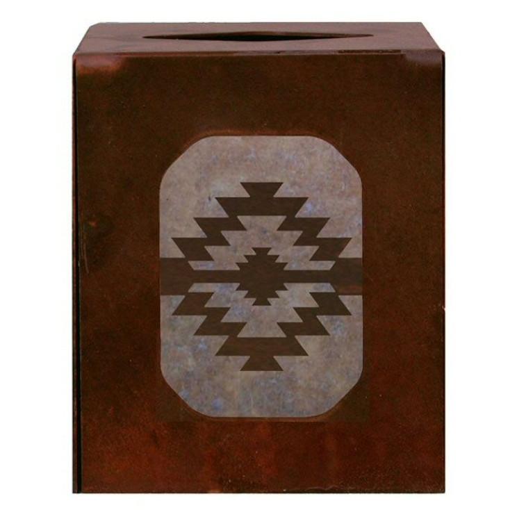 Desert Diamond Metal Boutique Tissue Box Cover