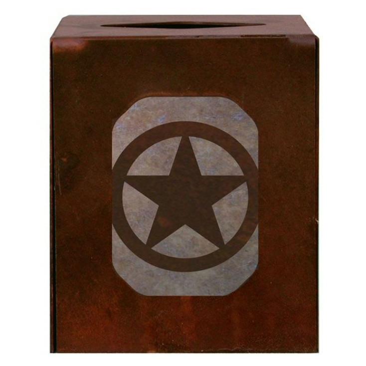 Texas Star Metal Boutique Tissue Box Cover