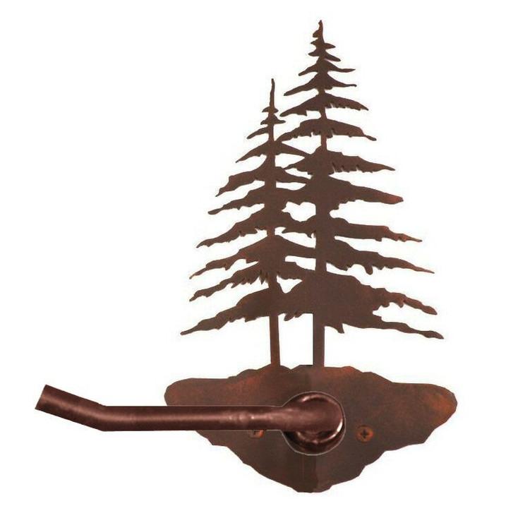 Double Pine Trees Metal Toilet Paper Holder