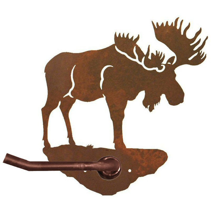 Moose Metal Toilet Paper Holder