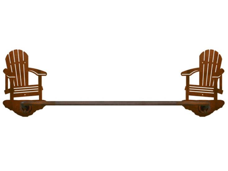 """27"""" Adirondack Chair Metal Towel Bar"""