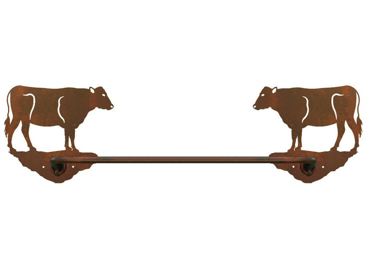 "18"" Cow Metal Towel Bar"
