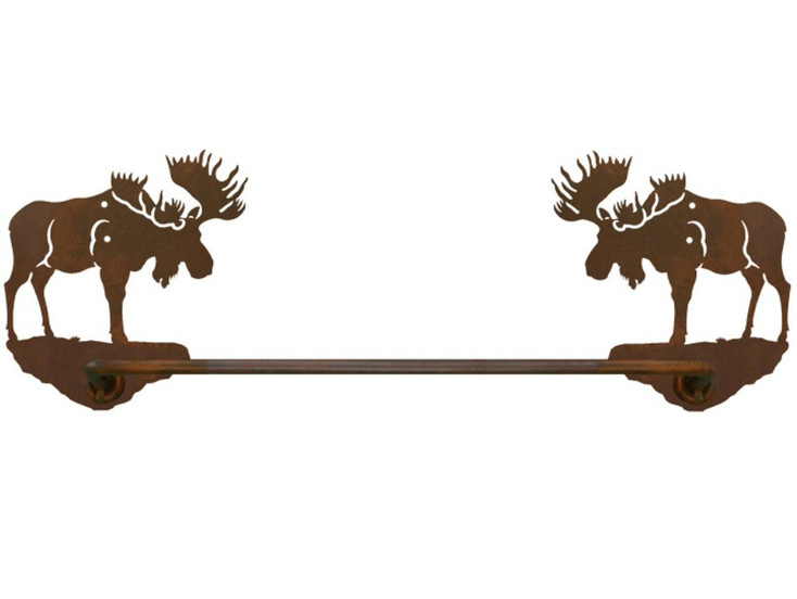 "18"" Moose Metal Towel Bar"