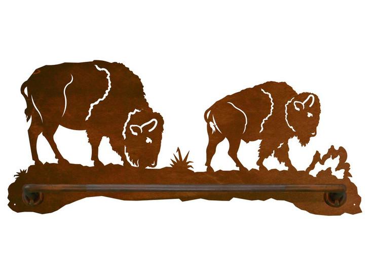 "18"" Buffalo Scenic Metal Towel Bar"