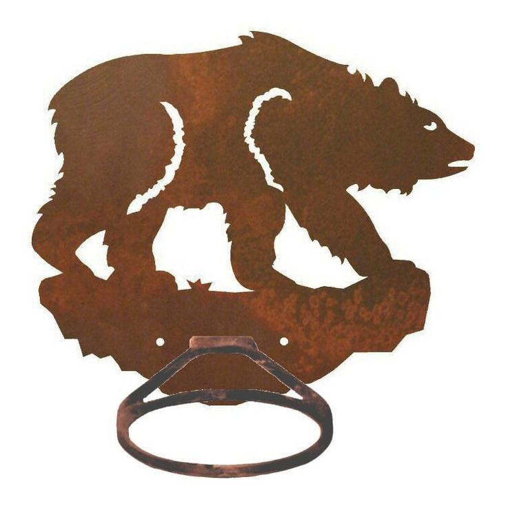 Brown Bear Metal Bath Towel Ring
