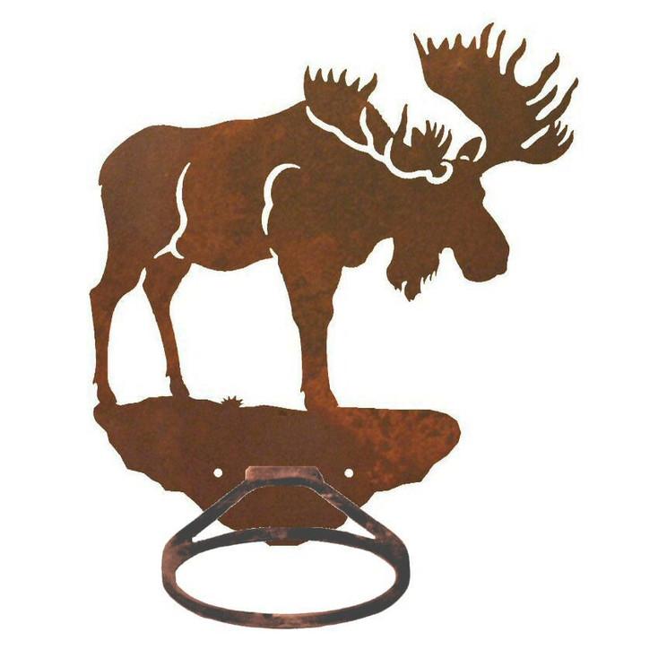 Moose Metal Bath Towel Ring