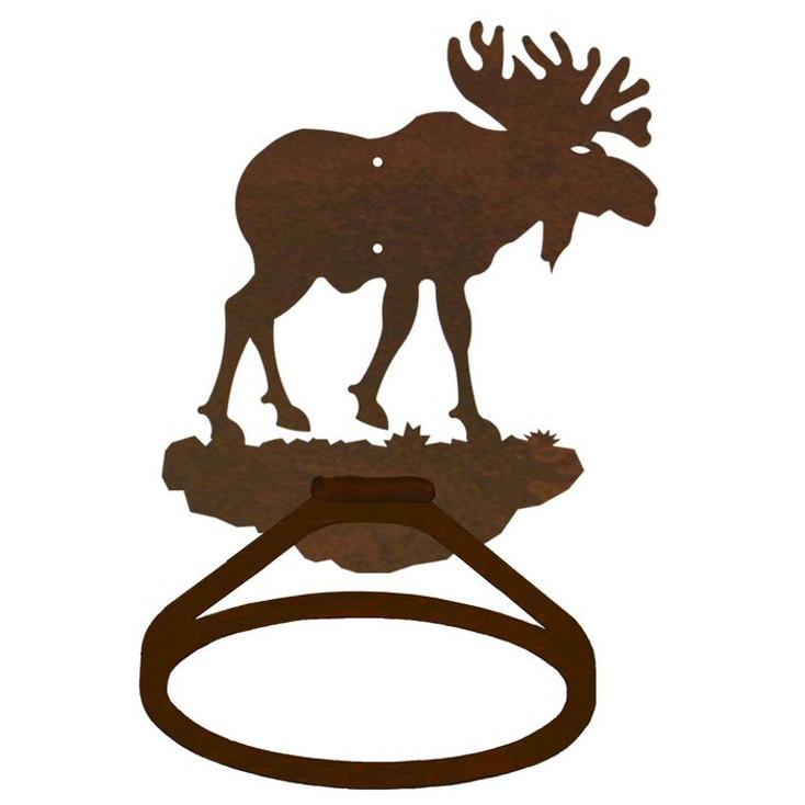 Original Moose Metal Bath Towel Ring