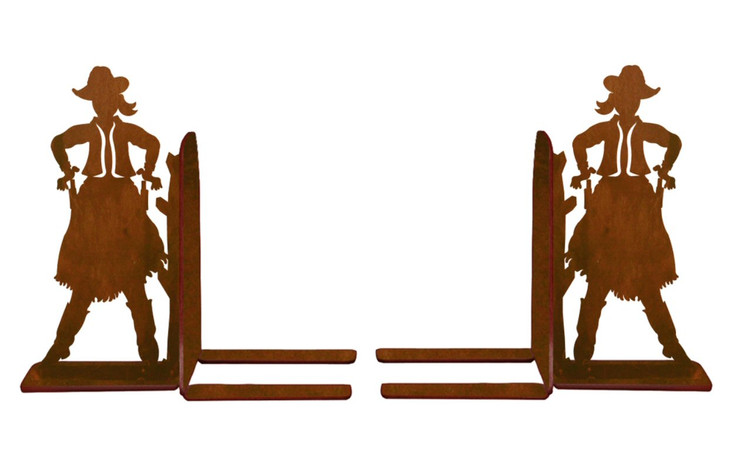 """6"""" Cowgirl Metal Bookends"""