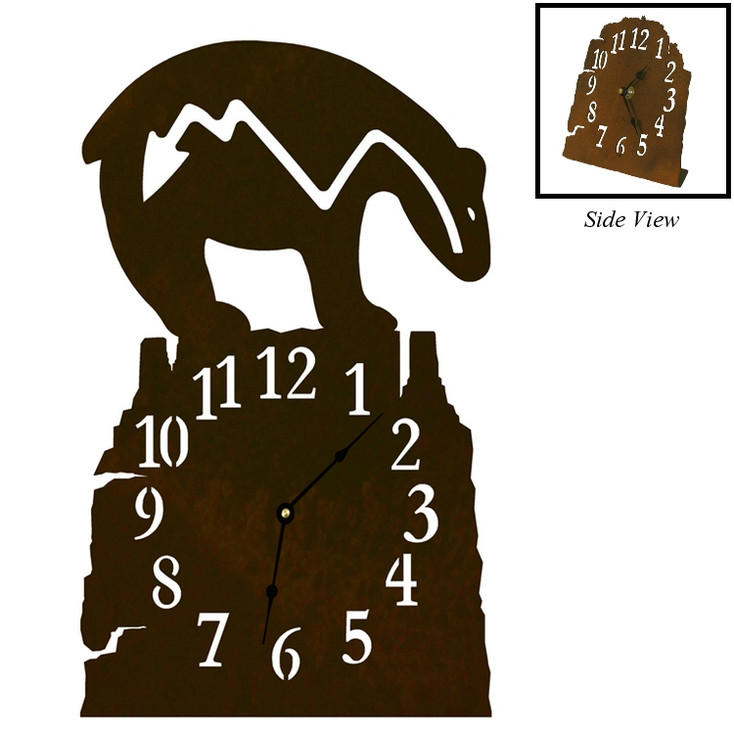 Fetish Bear Metal Table Clock