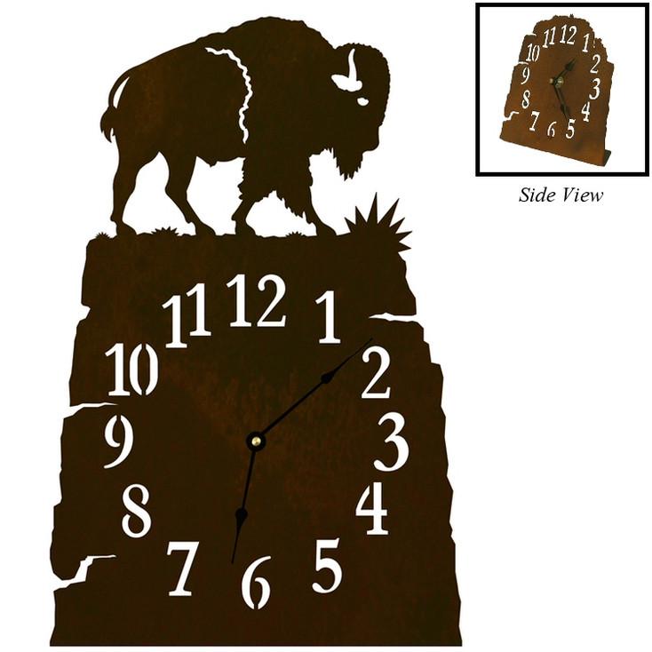 Buffalo Metal Table Clock