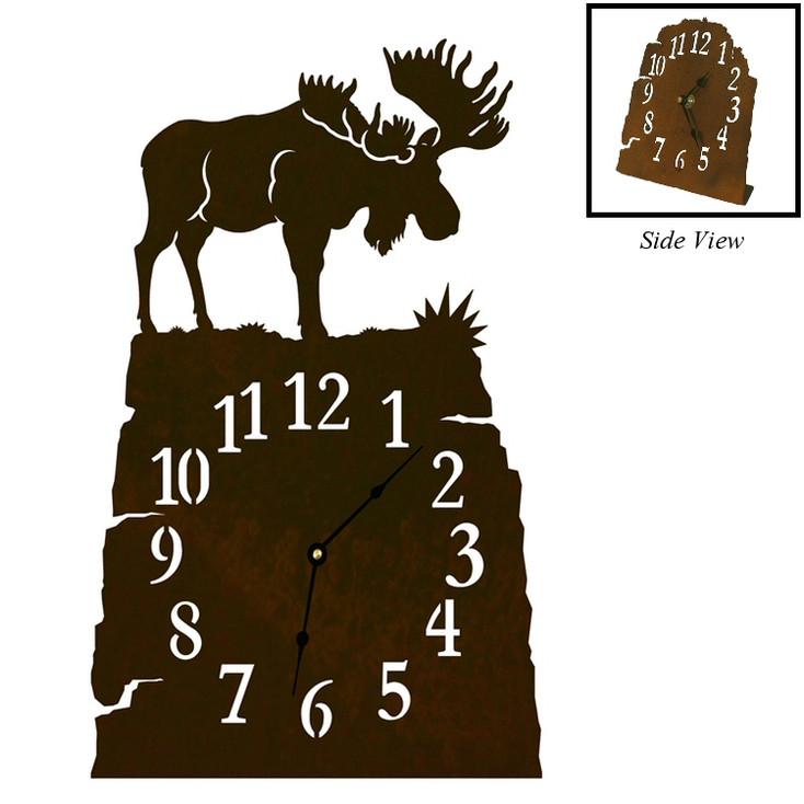 Moose Metal Table Clock