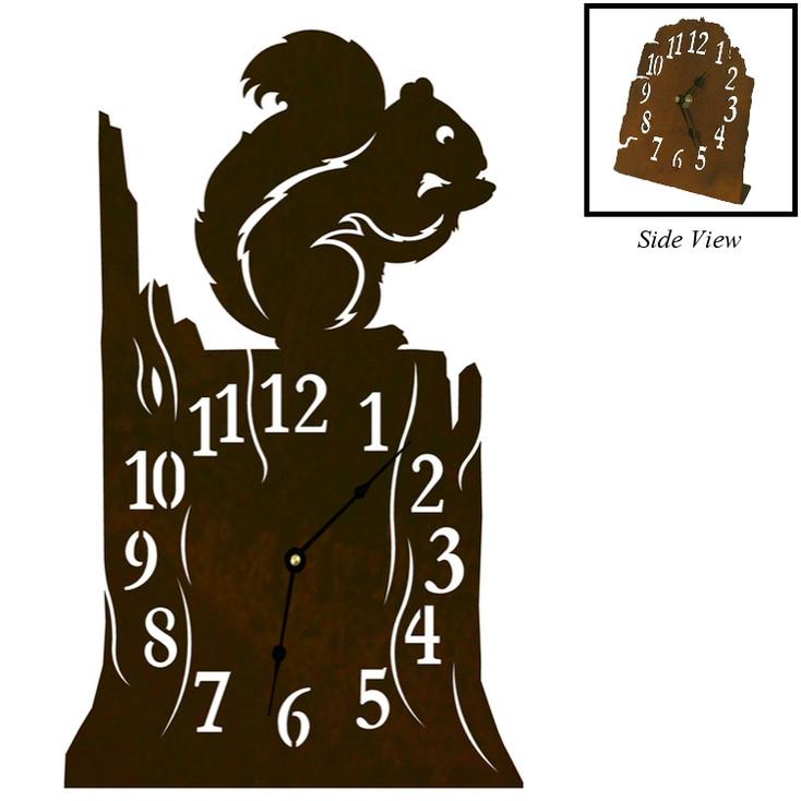 Squirrel Metal Table Clock