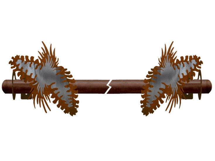 Burnished Pine Cone Metal Curtain Rod Holders