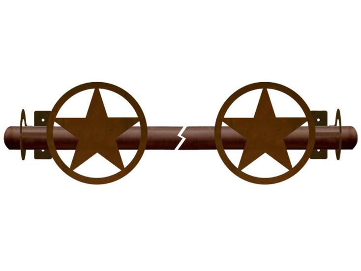 Texas Western Star Metal Curtain Rod Holders