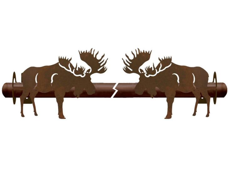 Moose Metal Curtain Rod Holders