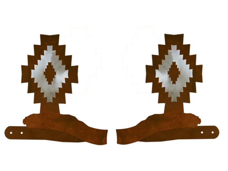 Burnished Desert Diamond Metal Curtain Tie Backs