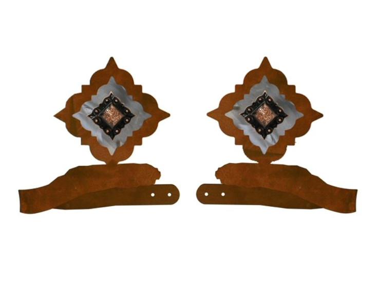 Diamond Copper Concho Metal Curtain Tie Backs
