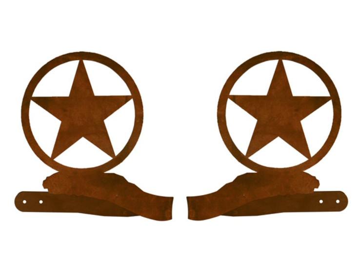 Texas Western Star Metal Curtain Tie Backs