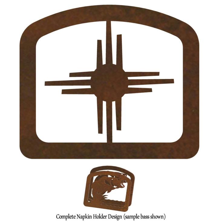 New Mexico Sun Metal Napkin Holder