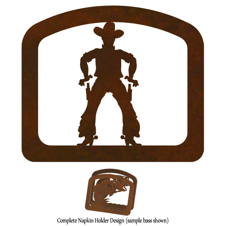Cowboy Metal Napkin Holder