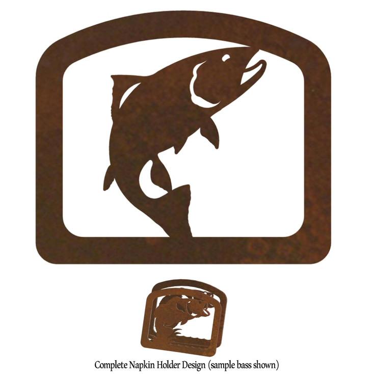 Trout Fish Metal Napkin Holder