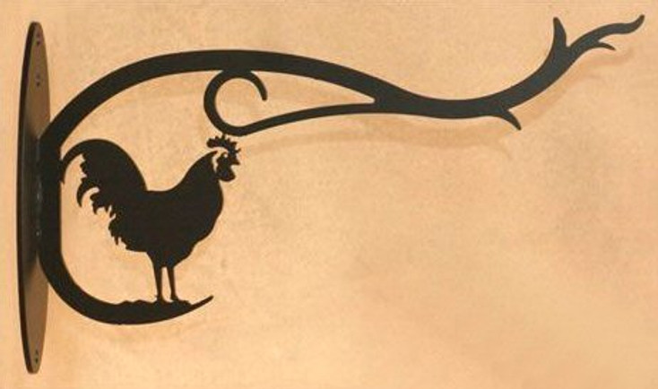 Rooster Metal Wall Plant Hanger