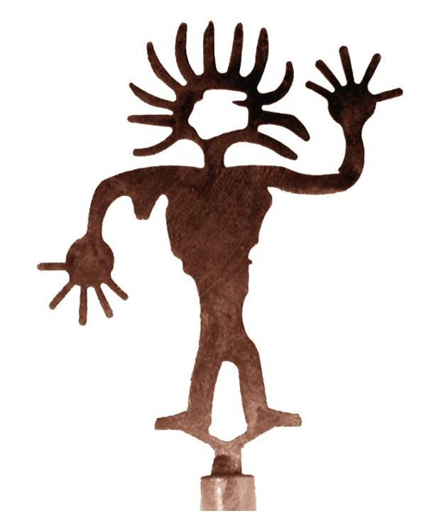 Sun Head Man Metal Lamp Finial