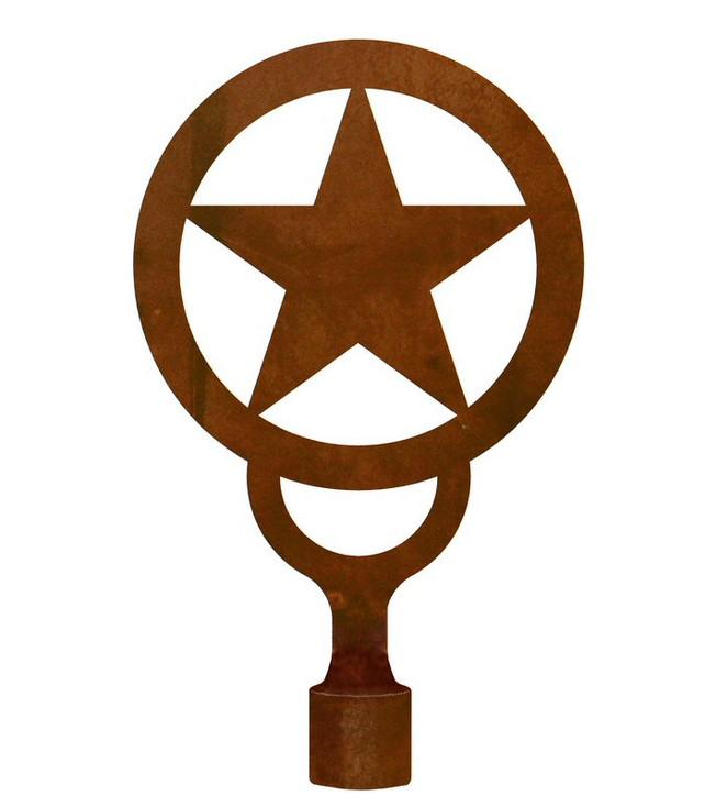 Large Texas Star Metal Lamp Finial