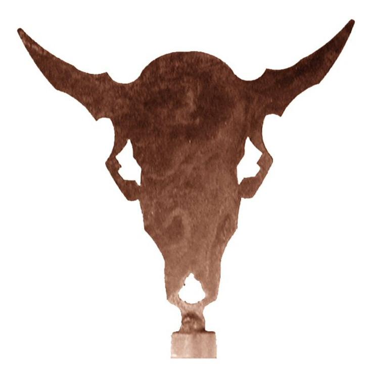 Buffalo Skull Metal Lamp Finial