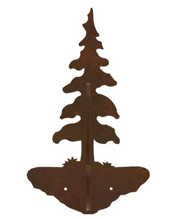 Single Pine Tree Double Metal Wall Hook