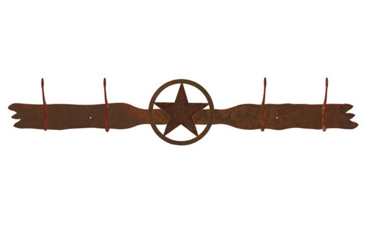 Texas Star Four Hook Metal Wall Coat Rack