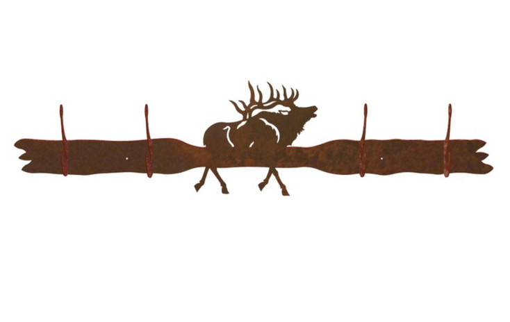 Elk Four Hook Metal Wall Coat Rack