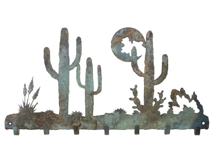 Desert Moon Metal Wall Key Rack