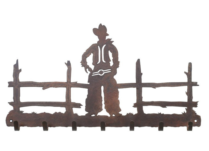 Cowboy Metal Wall Key Rack
