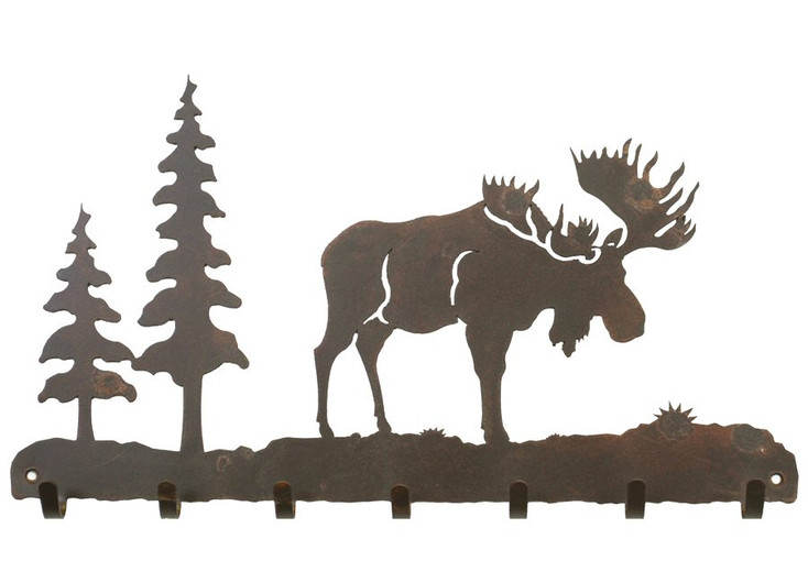 Moose Metal Wall Key Rack