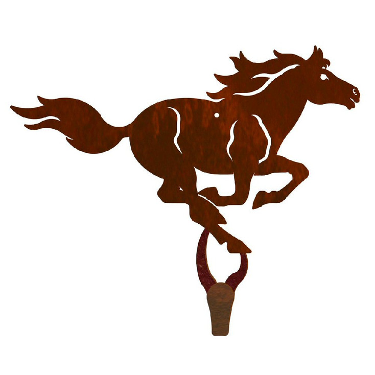 Running Horse Large Single Metal Wall Hook
