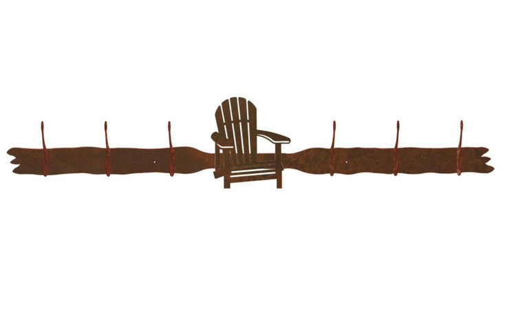 Adirondack Chair Six Hook Metal Wall Coat Rack