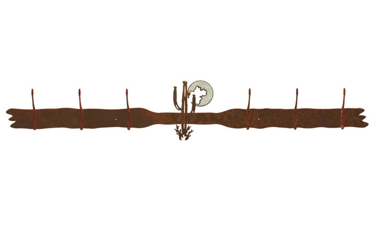 Burnished Desert Moon Six Hook Metal Wall Coat Rack