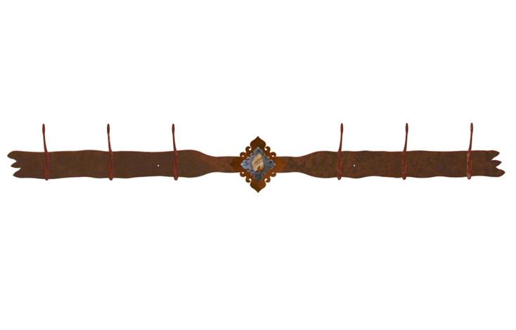 Picture Jasper Stone Six Hook Metal Wall Coat Rack