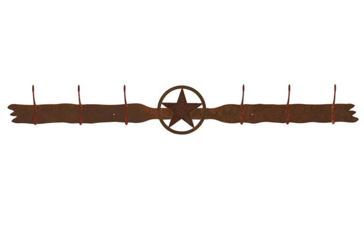 Texas Star Six Hook Metal Wall Coat Rack