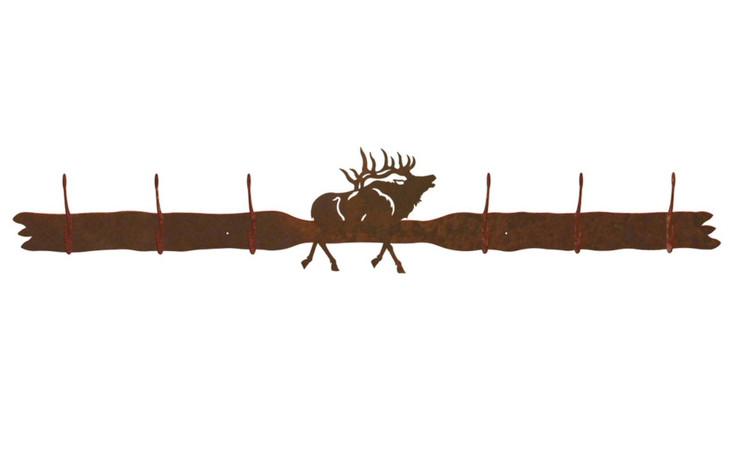Elk Six Hook Metal Wall Coat Rack