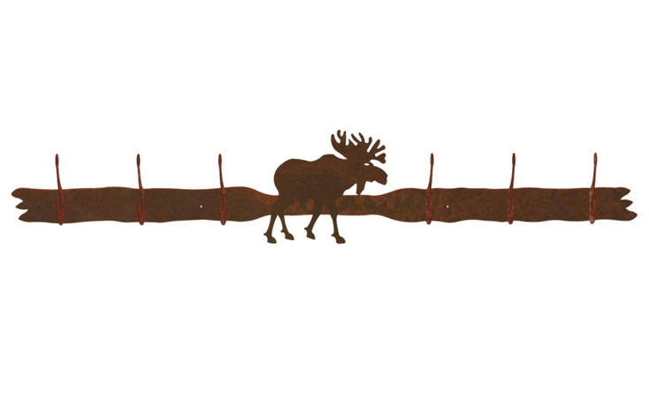 Original Moose Six Hook Metal Wall Coat Rack