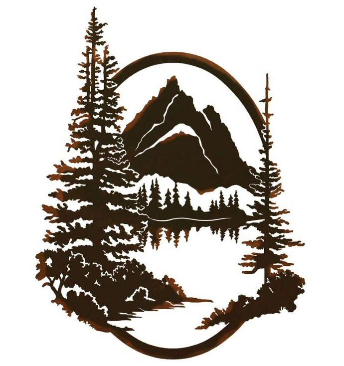 "26"" Grand Teton National Park Jenny Lake Metal Wall Art"