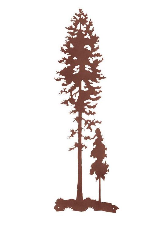 """41"""" Tall Lodge Poles Tree Metal Wall Art"""