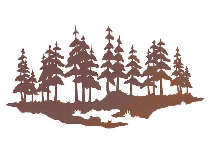 "20"" Pine Tree Forest Metal Wall Art"