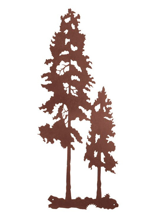 "40"" Lodge Poles Tree Metal Wall Art"